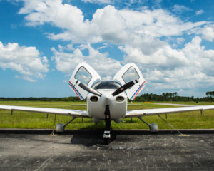 Aerosim Flight Academy employs the technically advanced Cirrus SR-20 aircraft as its primary trainer.